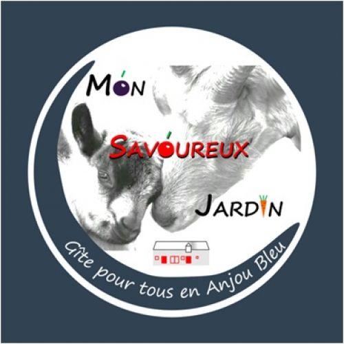 logo Mon savoureux jardin éco-gîte pour tous en Anjou Bleu